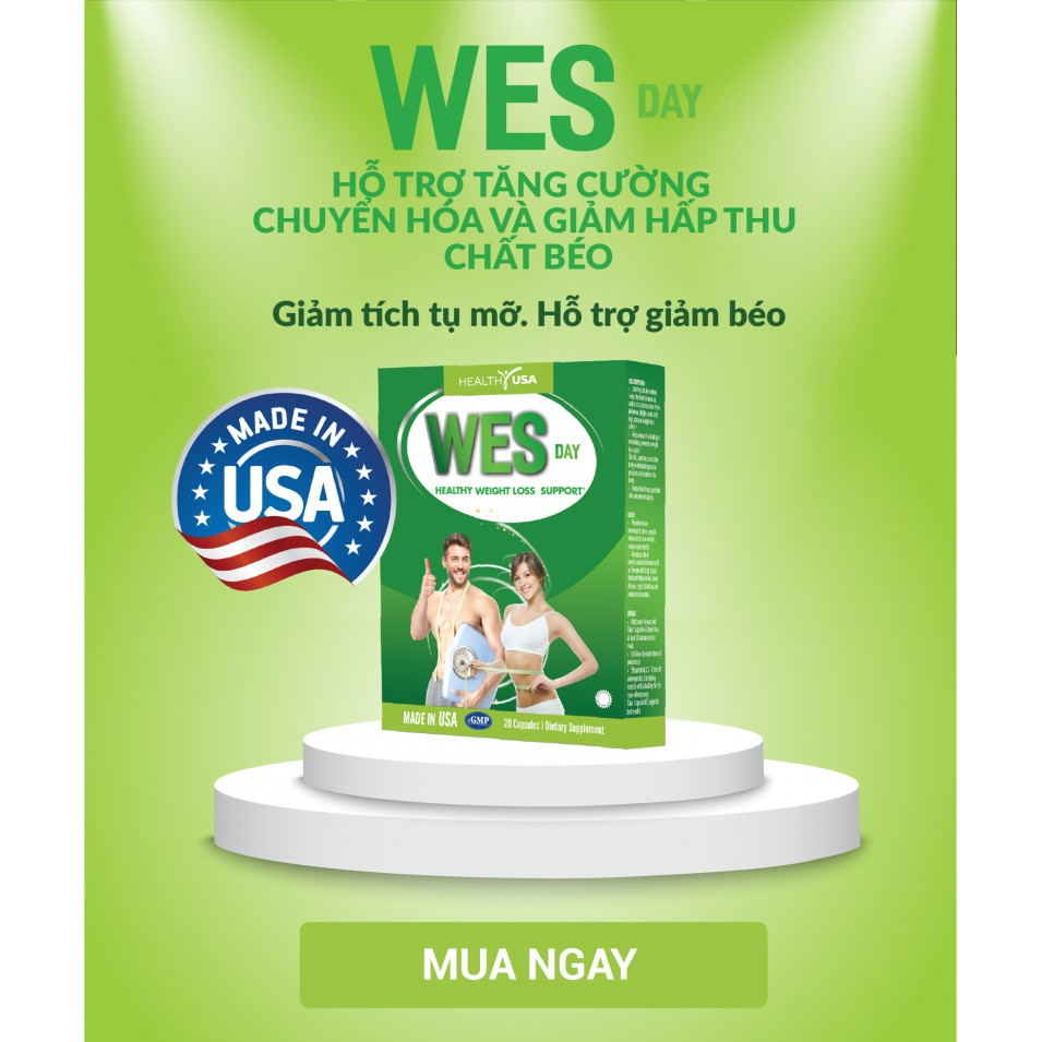 Công Dụng HEALTHY USA WES DAY Healthy Weight Loss Support: